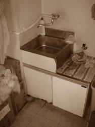 手洗い施工前
