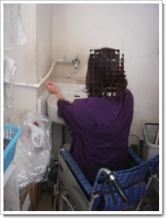 車椅子用手洗い1