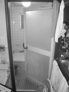 浴室内開きドア