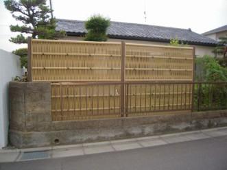 和風竹垣フェンス1