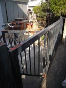 鉄製引き戸門扉